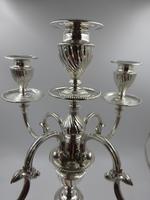 Antique Victorian Silver Candelabra. Sheffield 1894. (12 of 14)