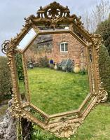 Large Gilt Cushion Mirror (8 of 9)