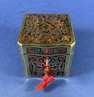 Exquisite 19th Century French Boulle Tea Caddy (2 of 8)