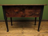 Antique Black Painted Writing Table Desk with Drawers, Gothic Shabby Chic (12 of 12)