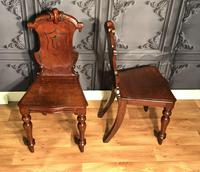 Pair of Victorian Mahogany Hall Chairs 318 (6 of 14)