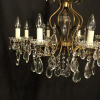 French Gilded 9 Light Birdcage Antique Chandelier (6 of 10)