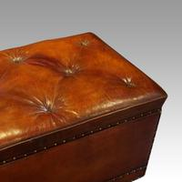 Large Victorian Leather Ottoman (7 of 9)