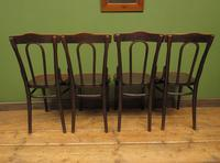Four Antique Polish Thonet Style Bentwood Bistro Chairs with Pressed Seats (21 of 22)