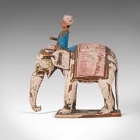 Antique Decorative Elephant and Rider, Indian, Hand Painted, Figure, Victorian (8 of 12)