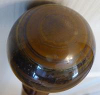 Walking Stick Cane 1918 Hallmarked Solid Silver Pommel Bamboo Shaft Tigers Eye (8 of 11)