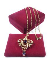 Antique Gold Amethyst And Seed Pearl Necklace (3 of 8)
