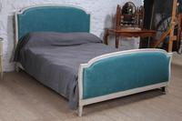 Lovely French Empire Newly Upholstered Bed (2 of 7)