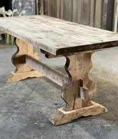 French Bleached Refectory Farmhouse Dining Table (6 of 21)