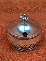 Antique Sterling Silver Hallmarked Heavy Mustard Pot 1924, Oldfield Ltd, Birmingham (9 of 10)