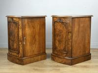 Fine Pair of Victorian Burr Walnut Bedside Cabinets (3 of 8)