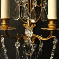 French Pair of Gilded Twin Arm Wall Lights (4 of 10)