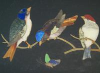 Antique Italian Pietra Dura Marble Panel Birds (2 of 5)