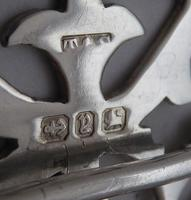 Victorian London 1898 Hallmarked Solid Silver Nurses Belt Buckle (5 of 7)