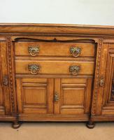 Antique Late 19th Century Oak Sideboard Dresser Base. (7 of 14)