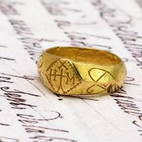 The Ancient 9th - 11th Century Gold Michael Ring (2 of 4)