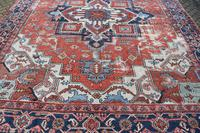 Antique Serapi Heriz Carpet 374x260cm (9 of 13)