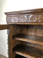Victorian Glazed Oak Cabinet with Carved Detail (3 of 10)