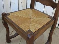 Six Oak & Rush Seated Os De Mouton Dining Chairs (3 of 8)