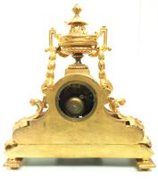 Stunning Quality French Mantel Clock Urn Top Blue Sevres Porcelain Mantle Clock. (5 of 12)