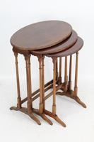 Antique Nest of 3 Mahogany Tables Manner of Gillows (2 of 12)