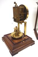 Rare Gustav Becker 400-day Torsion Clock German Mantel Clock Mahogany & Bevelled Glass Case (13 of 13)