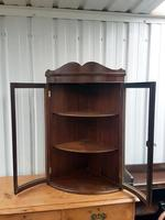 Hanging Bow Glass Cabinet (2 of 3)