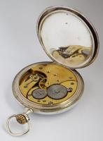 Antique Silver Omega Pocket Watch (4 of 5)