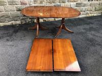 Antique 9ft Mahogany Twin Pillar Extending Dining Table (2 of 11)