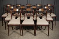 Set of 12 Regency Brass Inlaid Dining Chairs (17 of 20)