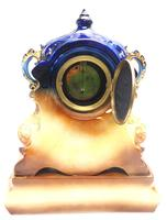 Antique 8-day Porcelain Mantel Clock Classical Blue & Earth Glazed French Mantle Clock (12 of 12)