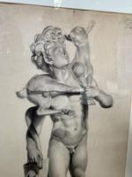 19th C Pencil Drawing (2 of 3)