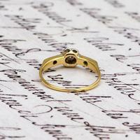 The Antique Nine Diamond Daisy Ring (4 of 5)