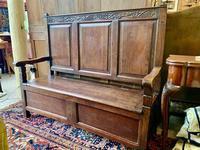 Late 18th Century Box Seated Oak Settle (2 of 19)