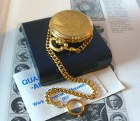 Vintage Pocket Watch 1970s Railroad 12ct Gold Plated Swiss & West Germany Nos (10 of 12)
