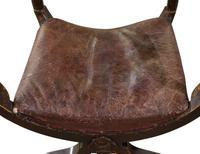 Pair of Ebonised Oak Elbow Chairs (9 of 12)