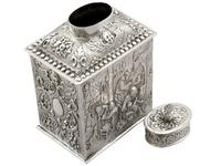 Sterling Silver Tea Caddy - George V 1925 (10 of 15)