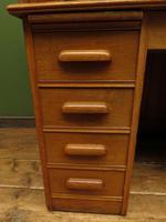 Antique Golden Oak Roll Top Writing Desk, Scandanavian A B Bobin & Mobelfabriken (10 of 15)