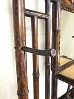 Victorian Antique Bamboo Mirrored Hall Stand (5 of 7)