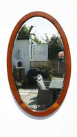 Early 20th Century Oval Overmantle Mirror 79 cm x 49 cm (8 of 11)