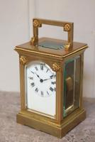 French Gilt Brass Carriage Clock (5 of 12)