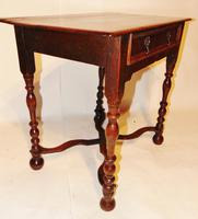 William & Mary Oak Side Table (2 of 8)
