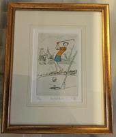 Coloured Engraving of Golf 'Another Birdie' (2 of 2)