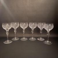 Six Stuart 'Sandringham' Hock Glasses