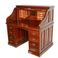 English Mahogany Roll Top Desk (3 of 9)