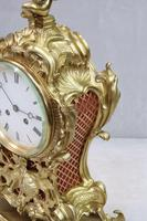 French Rococo Style Brass & Gilt Mantel Clock by Japy Freres (6 of 10)
