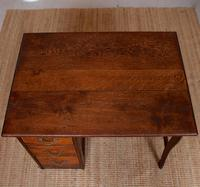 Carved Oak Desk French Writing Table Golden (5 of 15)