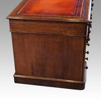 Victorian Oak Pedestal Desk (5 of 11)