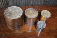 Set of 4 Treen Bushel Measures (5 of 5)