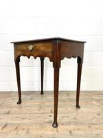 Small 18th Century Antique Oak Side Table (6 of 10)